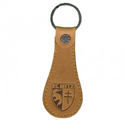 Porte clé simili cuir brun FC Metz 19-20